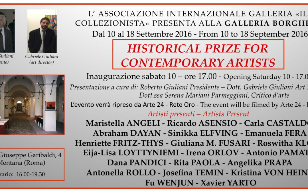 HISTORICAL PRIZE FOR CONTEMPORARY ARTISTS